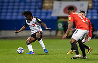 Bolton Wanderers' Peter Kioso (left) breaks<br /> <br /> Photographer Andrew Kearns/CameraSport<br /> <br /> The EFL Sky Bet League Two - Bolton Wanderers v Salford City - Friday 13th November 2020 - University of Bolton Stadium - Bolton<br /> <br /> World Copyright © 2020 CameraSport. All rights reserved. 43 Linden Ave. Countesthorpe. Leicester. England. LE8 5PG - Tel: +44 (0) 116 277 4147 - admin@camerasport.com - www.camerasport.com