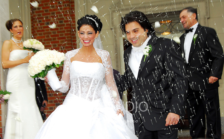 The wedding of Dayna Fiorillo and Emanuele Scarso at the St. Ephrems Catholic Church in Brooklyn, New York on Friday, May 18, 2007.