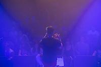 """Die Hamburger Hip-Hop-Band Neonschwarz spielte am Freitag den 30. September 2016 im ausverkauften Berliner Club SO36. Das Konzert war der Start zu ihrer Tournee """"Eskalation"""".<br /> Die Band besteht aus der Saengerin Marie Curry, den Rappern Captain Gips und Johnny Mauser sowie dem DJ Spion Y.<br /> 30.9.2016, Berlin<br /> Copyright: Christian-Ditsch.de<br /> [Inhaltsveraendernde Manipulation des Fotos nur nach ausdruecklicher Genehmigung des Fotografen. Vereinbarungen ueber Abtretung von Persoenlichkeitsrechten/Model Release der abgebildeten Person/Personen liegen nicht vor. NO MODEL RELEASE! Nur fuer Redaktionelle Zwecke. Don't publish without copyright Christian-Ditsch.de, Veroeffentlichung nur mit Fotografennennung, sowie gegen Honorar, MwSt. und Beleg. Konto: I N G - D i B a, IBAN DE58500105175400192269, BIC INGDDEFFXXX, Kontakt: post@christian-ditsch.de<br /> Bei der Bearbeitung der Dateiinformationen darf die Urheberkennzeichnung in den EXIF- und  IPTC-Daten nicht entfernt werden, diese sind in digitalen Medien nach §95c UrhG rechtlich geschuetzt. Der Urhebervermerk wird gemaess §13 UrhG verlangt.]"""