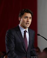 Liberal Leader Justin Trudeau on election night, September 19, 2015<br /> <br /> PHOTO : Raffi Kirdi -  Agence Quebec Presse