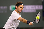 March 15, 2018: Roger Federer (SUI) defeated Hyeon Chung (KOR) 7-5, 6-1 in Wells Tennis Garden in Indian Wells, California. ©Mal Taam/TennisClix/CSM