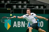 11-02-14, Netherlands,Rotterdam,Ahoy, ABNAMROWTT,Ernests Gulbis(LET)<br /> Photo:Tennisimages/Henk Koster