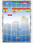 Conceptual shot of Arkanoid game representing global finance