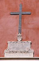 Europe/France/Corse/2B/Haute-Corse/Cap Corse/Bastia: La citadelle - Détail de la façade de l'Oratoire Sainte-Croix