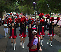 Stanford, CA - November 30, 2019: Stanford Marching Band at Stanford Stadium. The Notre Dame Fighting Irish defeated the Stanford Cardinal 45-24 in the season finale.