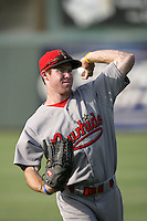 July 26 2009: Brendan Duffy of the Visalia Rawhide during game against the Inland Empire 66'ers at Arrowhead Credit Union Park in San Bernardino,CA..Photo by Larry Goren/Four Seam Images