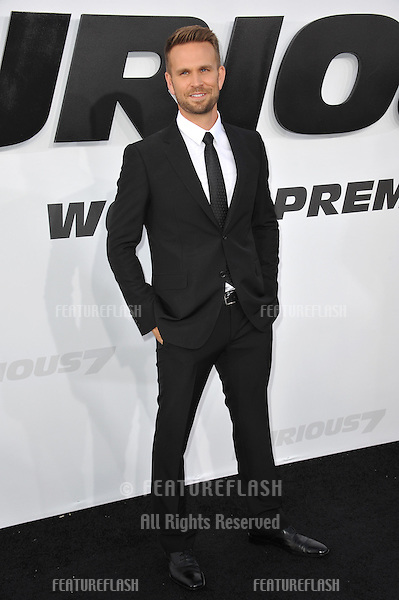 """John Brotherton at the world premiere of his movie """"Furious 7"""" at the TCL Chinese Theatre, Hollywood.<br /> April 1, 2015  Los Angeles, CA<br /> Picture: Paul Smith / Featureflash"""