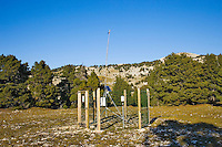 Remote controlled solar powered meteorological observation station on the Vercors Plateau.  Diois, Drome, France.