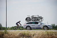 Matteo Trentin (ITA/Etixx-Quickstep) is brought back to the front group (early in the race)<br /> <br /> stage 18: Muggio - Pinerolo (240km)<br /> 99th Giro d'Italia 2016
