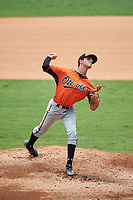 Pitcher Matt Rowland (25) of Pope High School in Marietta, Georgia playing for the Baltimore Orioles scout team during the East Coast Pro Showcase on July 30, 2015 at George M. Steinbrenner Field in Tampa, Florida.  (Mike Janes/Four Seam Images)