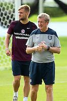 England manager Roy Hodgson and Luke Shaw