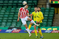 13th February 2021; Carrow Road, Norwich, Norfolk, England, English Football League Championship Football, Norwich versus Stoke City; Sam Vokes of Stoke City heads the ball