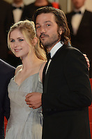 Erin Moriarty Diego Luna attend the 'Blood Father' Premiere during the 69th annual Cannes Film Festival at the Palais des Festivals on May 21, 2016 in Cannes