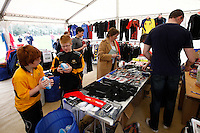Photo: Richard Lane/Richard Lane Photography. Rosslyn Park HSBC National School Sevens. 28/03/2011. Raging Bull shop.