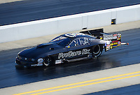 Apr. 13, 2012; Concord, NC, USA: NHRA pro mod driver Leah Pruett during qualifying for the Four Wide Nationals at zMax Dragway. Mandatory Credit: Mark J. Rebilas-