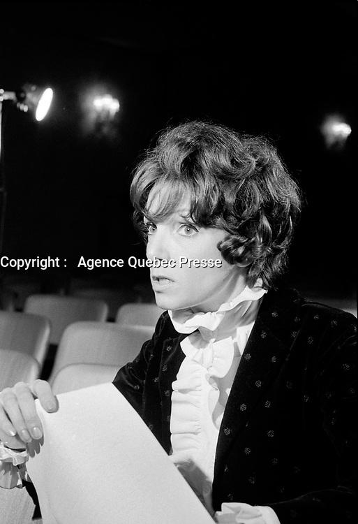 Monique Leyrac<br /> , Entre le 16 fevrier  et le 2 mars 1970<br /> <br /> Photo : Photo Moderne   © Agence Quebec Presse