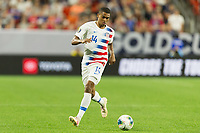 CLEVELAND, OHIO - JUNE 22: Reggie Cannon during a 2019 CONCACAF Gold Cup group D match between the United States and Trinidad & Tobago at FirstEnergy Stadium on June 22, 2019 in Cleveland, Ohio.
