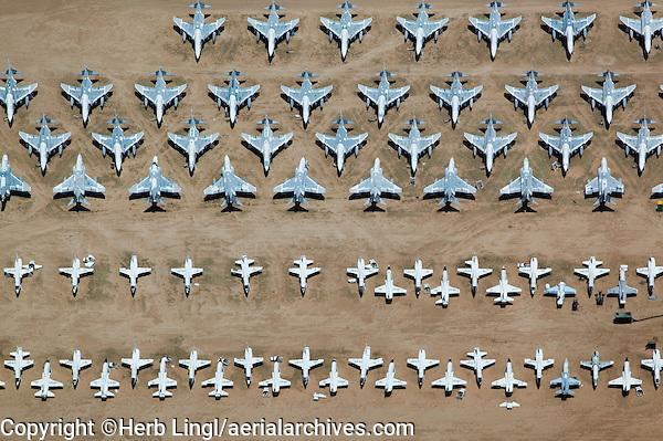 Aircraft boneyard, Davis Monthan Air Force Base Tucson Arizona
