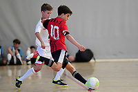 Astor Perez Baldoni of Selwyn College during the Futsal NZ Secondary Schools Junior Boys Final between Hamilton Boys High School and Selwyn College at ASB Sports Centre, Wellington on 26 March 2021.<br /> Copyright photo: Masanori Udagawa /  www.photosport.nz
