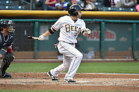 J.B. Shuck (3) of the Salt Lake Bees at bat against the Reno Aces at Smith's Ballpark on May 4, 2014 in Salt Lake City, Utah.  (Stephen Smith/Four Seam Images)