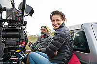 India, Gujarat, Kutch desert, Bhadroi Village. Film crew.