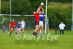 Kerry team mates Stephen O'Brien Kenmare takes and Tadhg Morley Templenoe  contest the kick out during their game in Killarney on Sunday