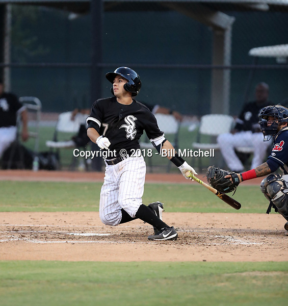 Nick Madrigal plays in his first professional game with the AZL White Sox in an Arizona League game against the AZL Indians at Camelback Ranch on July 5, 2018 in Glendale, Arizona (Bill Mitchell)