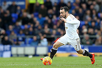 Leon Britton during the Barclays Premier League match between Everton and Swansea City played at Goodison Park, Liverpool