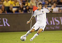 LA Galaxy midfielder David Beckham sending a ball over the middle. The LA Galaxy defeated Chivas USA 1-0 to win the final edition of the 2009 SuperClásico at Home Depot Center stadium in Carson, California on Saturday, August 29, 2009...