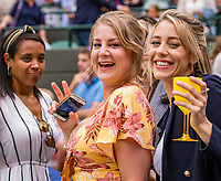 London, England, 8 July, 2019, Tennis,  Wimbledon, Men's singles: fans enjoying themselfs<br /> Photo: Henk Koster/tennisimages.com