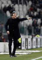 Calcio, Serie A: Juventus vs Sassuolo. Torino, Juventus Stadium, 11 marzo 2016. <br /> Sassuolo's coach Eusebio Di Francesco gives indications to his players during the Italian Serie A football match between Juventus vs Sassuolo, at Turin's Juventus Stadium, 11 March 2016.<br /> UPDATE IMAGES PRESS/Isabella Bonotto