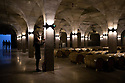 China - Ningxia - Wine cellar of Chateau Copower Jade, on the outskirts of Yinchuan. The 80-hectare-vineyard and the winery's modern structure cost 19 million euros and won the 2018 RVF Wine Design Award. <br />