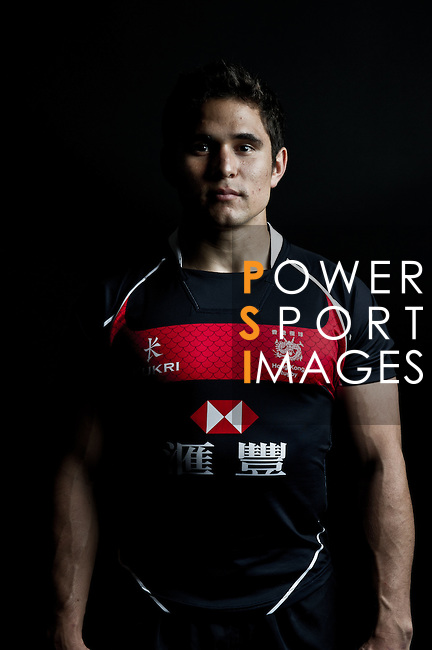 Rowan Varty poses during the Hong Kong 7's Squads Portraits on 5 March 2012 at the King's Park Sport Ground in Hong Kong. Photo by Micke Pickles / The Power of Sport Images for HKRFU