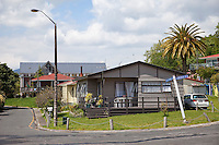 Middle-class House in Maori Village of Ohinemutu, Rotorua, north island, New Zealand.