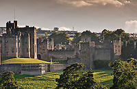 Evening light at Alnwick Castle, Alnwick, Northumberland.