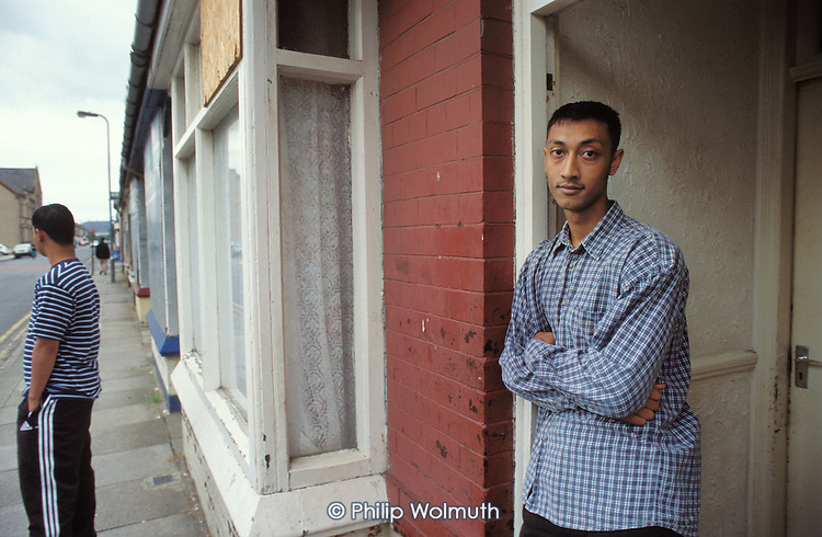 Sohir Uddin, 21, one of the last two tenants on the south-west end of Redcar Road, in the South Bank district of Middlesborough, is the main carer for his four younger siblings. Almost all the houses in the street are boarded up and scheduled for demolition.