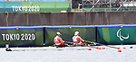 Jessye Brockway and Jeremy Hall, Tokyo 2020 - Para Rowing // Para-aviron.<br /> Canada competes in PR2 Mixed Double Skulls // Le Canada participe au PR2 double mixte Skulls. 08/29/2021.