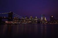 The Brooklyn Bridge at Night