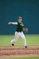 Jake Williams (19), from Amory, Mississippi, while playing for the Athletics during the Baseball Factory Pirate City Christmas Camp & Tournament on December 27, 2017 at Pirate City in Bradenton, Florida.  (Mike Janes/Four Seam Images)