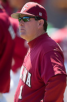 South Carolina head coach Ray Tanner (1) watches the action from the dugout versus LSU at Sarge Frye Stadium in Columbia, SC, Thursday, March 18, 2007.