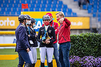 Team Germany walk the course for the Jumping for the CCIO4*-S Eventing - SAP Cup. 2021 GER-CHIO Aachen Weltfest des Pferdesports. Aachen, Germany. Friday 17 September. Copyright Photo: Libby Law Photography