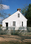 White house with picket fence Williamsburg Virginia, Fine Art Photography by Ron Bennett, Fine Art, Fine Art photography, Art Photography, Copyright RonBennettPhotography.com ©