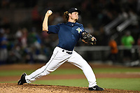 Pitcher Matt Blackham (6) of the Columbia Fireflies works in relief in a game against the Lexington Legends on Thursday, June 8, 2017, at Spirit Communications Park in Columbia, South Carolina. Columbia won, 8-0. (Tom Priddy/Four Seam Images)