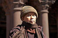 """Thich Nhat Hanh Zen Master author poet and peace activist, leads guided meditation """"Sit in Peace"""" at Copley Square Boston, Massachusetts September 15, 2013"""