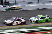 #11: Denny Hamlin, Joe Gibbs Racing, Toyota Camry FedEx Office and #3: Austin Dillon, Richard Childress Racing, Chevrolet Camaro American Ethanol