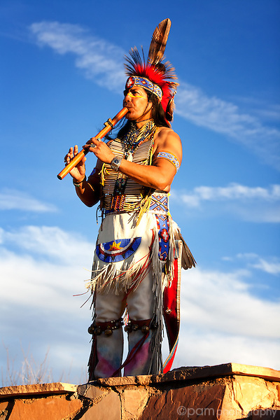 Native American with flute