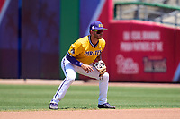 East Carolina Pirates second base Connor Norby (1) during a game against the Memphis Tigers on May 25, 2021 at BayCare Ballpark in Clearwater, Florida.  (Mike Janes/Four Seam Images)