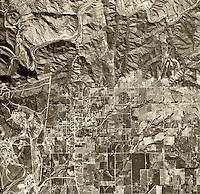 historical aerial photograph Fallbrook, San Diego county, California, 1946