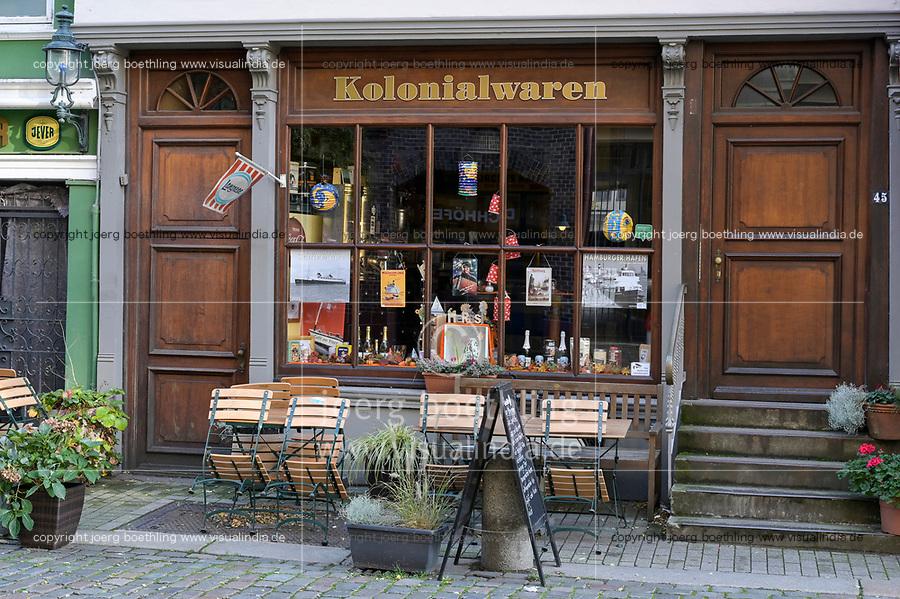 GERMANY, Hamburg, historical shop for colonial goods  / DEUTSCHLAND, Hamburg, Kolonialwarengeschäft