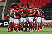 Rio de Janeiro (RJ), 24/04/2021 - Flamengo-Volta Redonda - Jogadores do Flamengo,durante partida contra o Volta Redonda,válida pela 11ª rodada da Taça Guanabara,realizada no Estádio Jornalista Mário Filho (Maracanã), na zona norte do Rio de Janeiro, neste sábado (24).